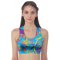 Colorful abstract pattern Sports Bra