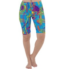 Colorful abstract pattern Cropped Leggings