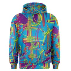 Colorful abstract pattern Men s Pullover Hoodie