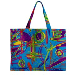 Colorful abstract pattern Zipper Mini Tote Bag