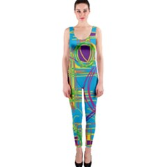 Colorful abstract pattern OnePiece Catsuit