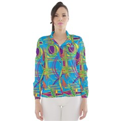 Colorful abstract pattern Wind Breaker (Women)