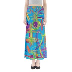 Colorful abstract pattern Maxi Skirts