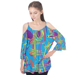 Colorful Abstract Pattern Flutter Tees
