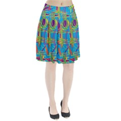 Colorful abstract pattern Pleated Skirt