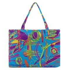 Colorful abstract pattern Medium Zipper Tote Bag
