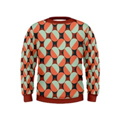 Modernist Geometric Tiles Kids  Sweatshirt
