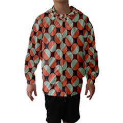 Modernist Geometric Tiles Hooded Wind Breaker (kids)