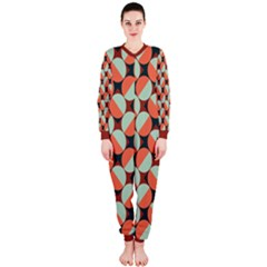 Modernist Geometric Tiles Onepiece Jumpsuit (ladies)