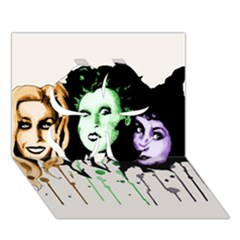 The Sanderson Sisters  Clover 3d Greeting Card (7x5)