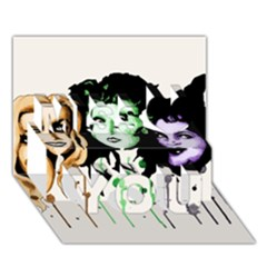 The Sanderson Sisters  Miss You 3d Greeting Card (7x5)