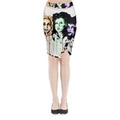 The Sanderson Sisters  Midi Wrap Pencil Skirt