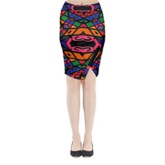Monkey Best  Midi Wrap Pencil Skirt