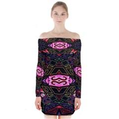 Ililii Long Sleeve Off Shoulder Dress