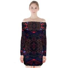 Ililii;;;;j Long Sleeve Off Shoulder Dress