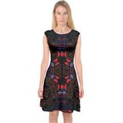 Ililii;;;;j (2)nyht Capsleeve Midi Dress