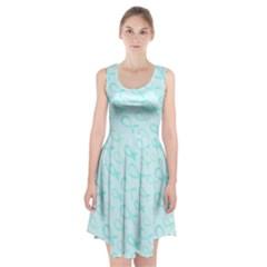 Turquoise Watercolor Awareness Ribbons Racerback Midi Dress