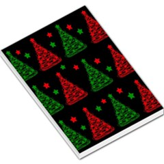 Decorative Christmas trees pattern Large Memo Pads