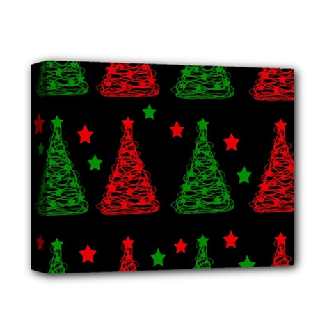 Decorative Christmas trees pattern Deluxe Canvas 14  x 11