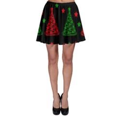 Decorative Christmas trees pattern Skater Skirt