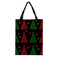Decorative Christmas trees pattern Classic Tote Bag