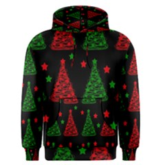 Decorative Christmas trees pattern Men s Pullover Hoodie