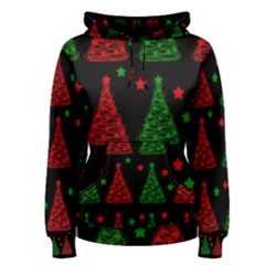 Decorative Christmas trees pattern Women s Pullover Hoodie