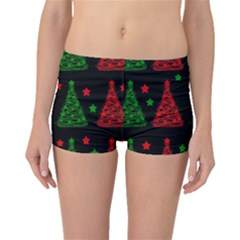 Decorative Christmas trees pattern Boyleg Bikini Bottoms