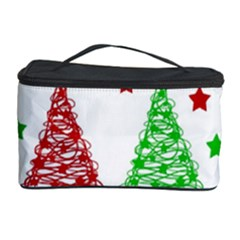 Decorative Christmas trees pattern - White Cosmetic Storage Case