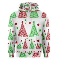 Decorative Christmas trees pattern - White Men s Pullover Hoodie