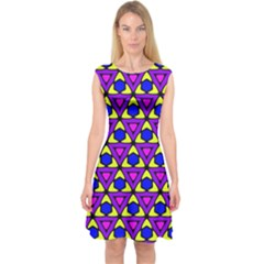 Triangles and honeycombs pattern                                 Capsleeve Midi Dress
