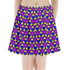 Triangles And Honeycombs Pattern                             Pleated Mini Mesh Skirt