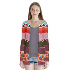 Waves and other shapes                 Drape Collar Cardigan