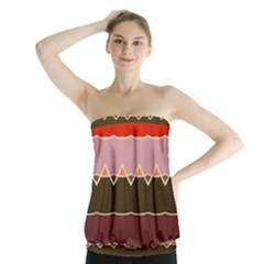 Waves And Other Shapes                                     Strapless Top