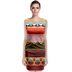 Waves And Other Shapes                                                       Classic Sleeveless Midi Dress