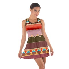 Waves And Other Shapes                                                                                                    Cotton Racerback Dress