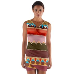 Waves And Other Shapes                                     Wrap Front Bodycon Dress