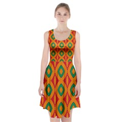 Rhombus And Other Shapes Pattern             Racerback Midi Dress