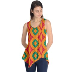 Rhombus And Other Shapes Pattern                                                                                                     Sleeveless Tunic