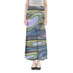 3d Shapes                                                        Women s Maxi Skirt