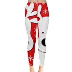 Christmas reindeer - red Leggings
