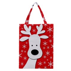 Christmas reindeer - red Classic Tote Bag