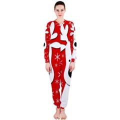 Christmas reindeer - red OnePiece Jumpsuit (Ladies)