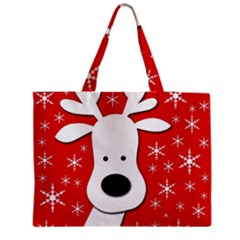 Christmas reindeer - red Medium Tote Bag