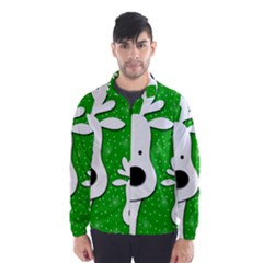 Christmas reindeer - green 2 Wind Breaker (Men)
