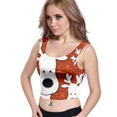 Christmas reindeer - red 2 Crop Top