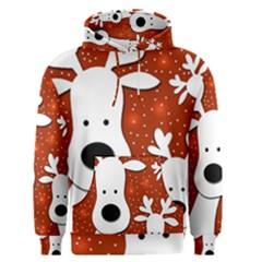 Christmas reindeer - red 2 Men s Pullover Hoodie