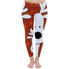 Christmas reindeer - red 2 Winter Leggings