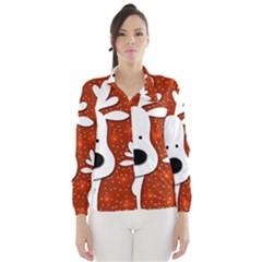 Christmas reindeer - red 2 Wind Breaker (Women)