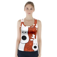 Christmas reindeer - red 2 Racer Back Sports Top